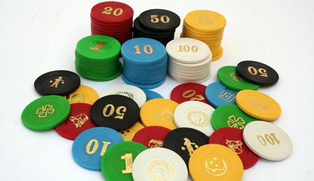 Fichas para Backgammon de 30 mm de diámetro x 6 mm de espesor